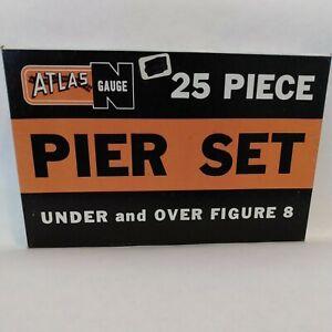 N scale pier set 25 piece over 'n under Atlas 2541 USA NIP