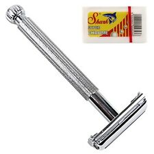 PARKER SAFETY RAZOR 29L + 5 SHARK DE RAZOR BLADES, LADIES SHAVER Eco friendly