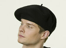 Unisex felt beret - black