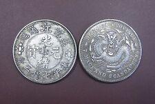 """Una pieza de China dinastía Qing"""""""" """"Guang Xu Yuan Bao"""" moneda (Hei largo Jiang)"""