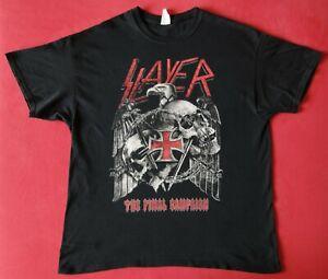 Shirt SLAYER - The Final Campaign + Gr XL (Testament Megadeth Kreator Overkill )