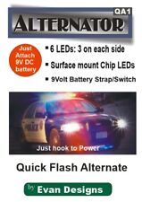 YELLOW - Quick Flash Alternating Strobe Circuit. 6 LEDs! Police, R/C, Drones
