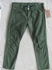 True Religion Slim Moto Jeans- Mystic Military Green-Size 36- NWT $249