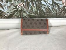 VINTAGE  DOONEY & BOURKE LEATHER Wallet SNAP Closure BROWN SIGNATURE 7 1/4""