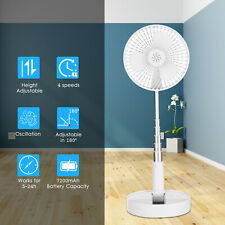 USB Electric Desk Quiet Fan w/ 4-Speed 180° Rotatable Head Extendable Home I3J9