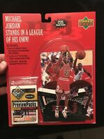 Jordan Upper Deck Preview Pck Cards And Stand Up Figure