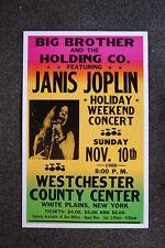 Janis Joplin Tour Poster 1968 Westrchester