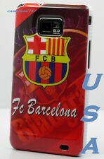 fits samsung galaxy S2 i9100 and i777 case fc Barcelona football soccer club fcb