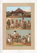 VINTAGE FASHION COSTUME PRINT ~ AFRICA ~ BERBERS KABYLES & KROUMIRS