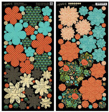 Graphic45 Die-Cuts COUTURE FLOWERS scrapbooking Vintage Fashion
