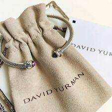 David Yurman $475 Renaissance Bracelet Amethyst & 18K Gold 3.5mm MEDIUM NEW