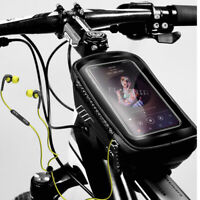 6.2inch Phone Bike Frame Bicycle Front Bag Top Tube Phone Pouch Waterproof Black