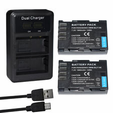 2  Battery for Panasonic Lumix DC-G9 DC-GH5 DC-GH5GN DC-GH5LEICA + LCD Charger