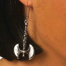 Battle Axe Earrings Medieval Gothic Fancy Dress Halloween Costume Accessory
