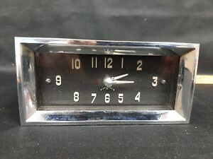 1949 1950 Cadillac Dash Clock - Excellent WORKING - Converted to use AA Battery