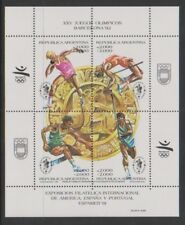 Argentina - 1990, Olympic Games, Barcelona (1992) sheet - MNH - SG MS2241