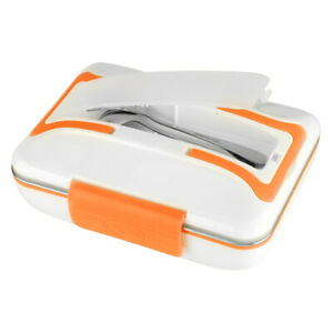 Electric Heating Lunch Box Stainless Steel Food Container Home Office Home Use