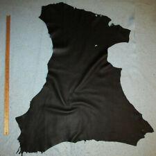 Heavy 3.5 oz Black Grain Deerskin Leather Hide Deer Skin