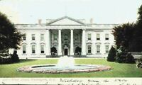 The White House Front Fountain Washington DC 1900's 1905 Undivided Back Postcard