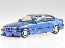 BMW e36 M3 Coupe 1992 estorilblue diecast model car 943022303 Minichamps 1:43
