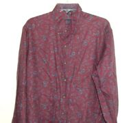 Retford Kenneth Gordon Paisley Shirt Sz XL Vtg Mod Groovy long slv Made in USA