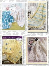 20 Baby AFGHAN Crochet Patterns Various sizes 3 4 8 ply