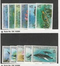 Turks & Caicos, Postage Stamp, #368-373, 380-384 Mint Hinged, 1978-79 Fish
