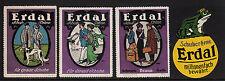400211/ Reklamemarke - ERDAL Schuhcreme - 4 Stück