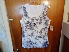 "Womens Coldwater Creek "" NWT "" M 10-12 Cirrus Sequinshell Sleeveless Top"