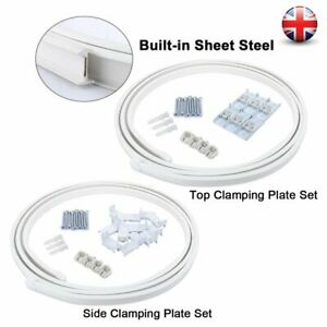4.5M White Flexible Curtain Track Rail Straight Standard & Bay Window Hook