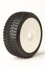 James Racing Dot Evo 1/8 Buggy Tire Pre-Mounted Glued White Dish Rim Wheel Soft