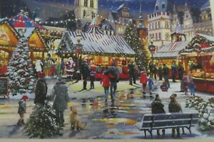 WENTWORTH WOODEN JIGSAW PUZZLE 250 PIECES - CHRISTMAS MARKET