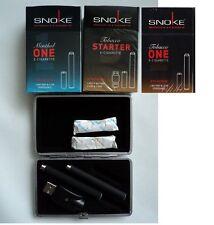 SNOKE  E- Zigarette 3 Stück + Etui + 3 Caps Starterset