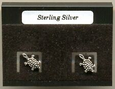 Tortoise Sterling Silver 925 Studs Earrings Carded