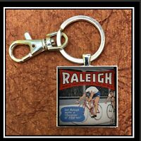 Vintage Raleigh Bicycle Ad Photo Keychain Gift Free Shipping Cyber Monday Bike