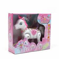 CHILDREN Kids Princess toys ELVES Horse Light Music Walk Around fairy TOY uk