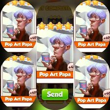 5x Pop Art Papa ### Coin Master Cards (Fastest Delivery)