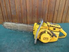 """Vintage McCULLOCH 1-41 Chainsaw Chain Saw with 18"""" Bar BIG OLD"""