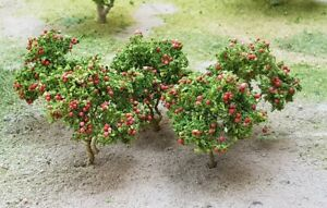 MP SCENERY 6 Apple Trees N Gauge Fruit Trees Model Railroad Farm Layout Handmade