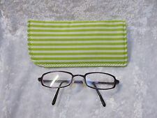 Jazberryz Padded Spectacle Soft Pouch *Lime/Cream Stripes New Handmade