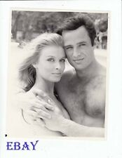 Joe Penny barechested Heather McNair Vintage Photo Savage In The Orient