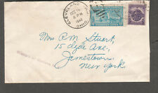 1946 special delivery cover Cleveland to Jamestown NY missent to Buffalo NY