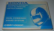 Owner´s Manual Honda CBR 1000 F Instruktieboek Manual Del Propietario Stand 1992