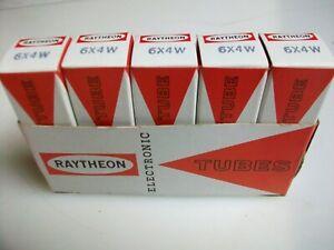 SLEEVE  OF  5  RAYTHEON   6X4W  TUBES