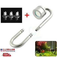 Aquarium Stainless Steel CO2 Diffuser with U Shaped Tube Bend 3x Suction Cups