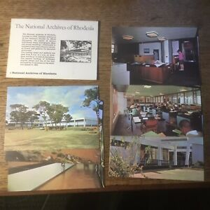 Set Of 6 Postcards National Archives Rhodesia