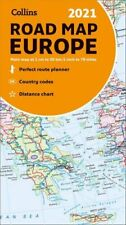 Map of Europe 2021 Folded Road Map by Collins Maps 9780008374341 | Brand New