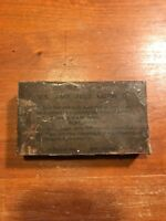 WWII US Army Chocolate D-Bar Ration box 4 oz. Hershey,Co.