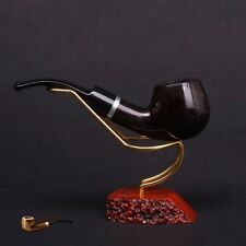 HAND MADE WOODEN TOBACCO SMOKING PIPE BRUYERE no 74 Black  Briar  + BOX