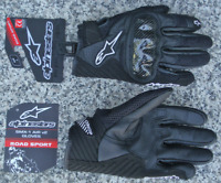 Alpinestars SMX1 SMX-1 Air V2 Mens Black Leather Motorcycle Gloves S M L XL 2XL